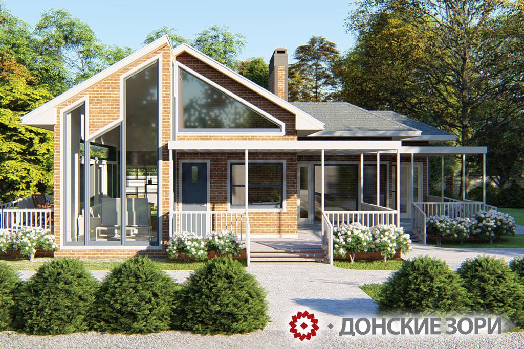 Дом из кирпича ручной формовки Донские зори